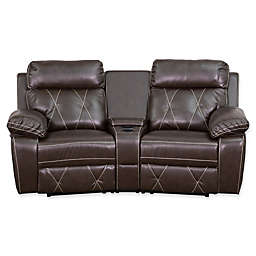 Flash Furniture 79-Inch Leather 2-Seat Reclining Theater Set