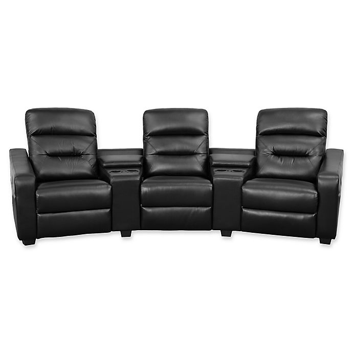 Fabulous Flash Furniture 120 Inch Leather 3 Seat Reclining Theater Lamtechconsult Wood Chair Design Ideas Lamtechconsultcom