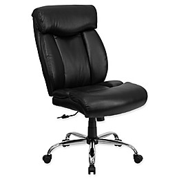 Flash Furniture Faux Leather Big and Tall Office Chair in Black