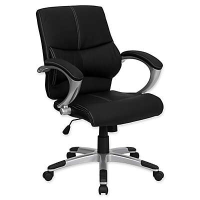 Flash Furniture 41.75-Inch Bonded Leather Office Chair in Black