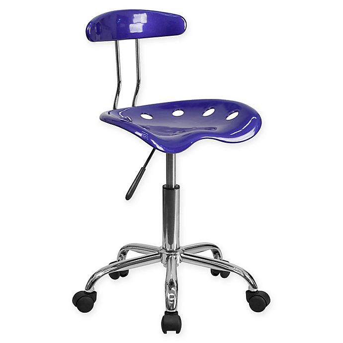 Alternate image 1 for Flash Furniture Plastic Task Chair in Deep Blue