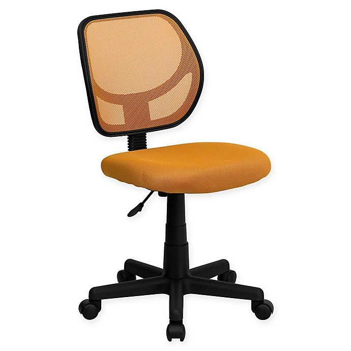 Alternate image 1 for Flash Furniture 30.5-Inch - 34.5-Inch Height-Adjustable Mesh Task Chair in Light Orange