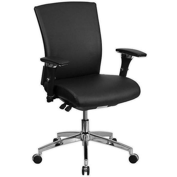 Alternate image 1 for Flash Furniture 24/7 Faux Leather Office Chair in Black