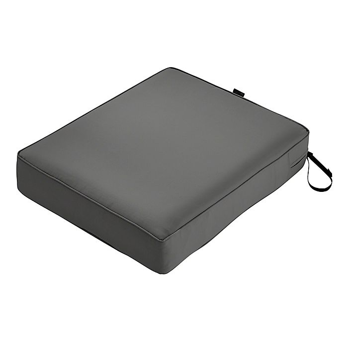 Alternate image 1 for Classic Accessories® Montlake™ FadeSafe 27-Inch x 25-Inch Outdoor Lounge Seat Cushion