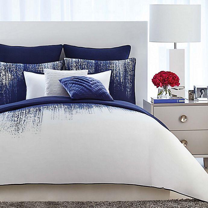 Alternate image 1 for Vince Camuto® Lyon Full/Queen Duvet Cover Set in Blue/White