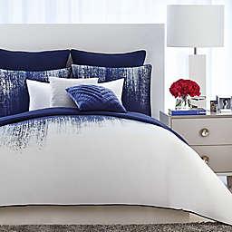 Vince Camuto® Lyon King Duvet Cover Set in Blue/White