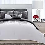 Vince Camuto® Lyon Full/Queen Duvet Cover Set in Grey/White