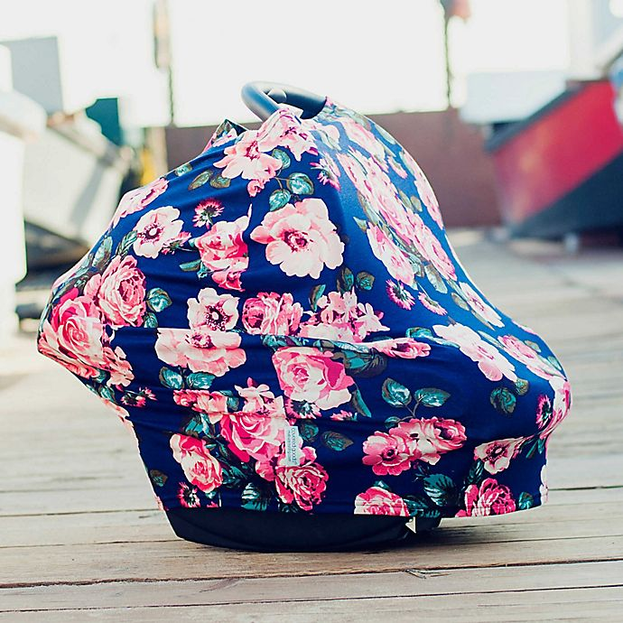 Alternate image 1 for Covered Goods™ 4-in-1 Multi-Use Cover in Navy Floral