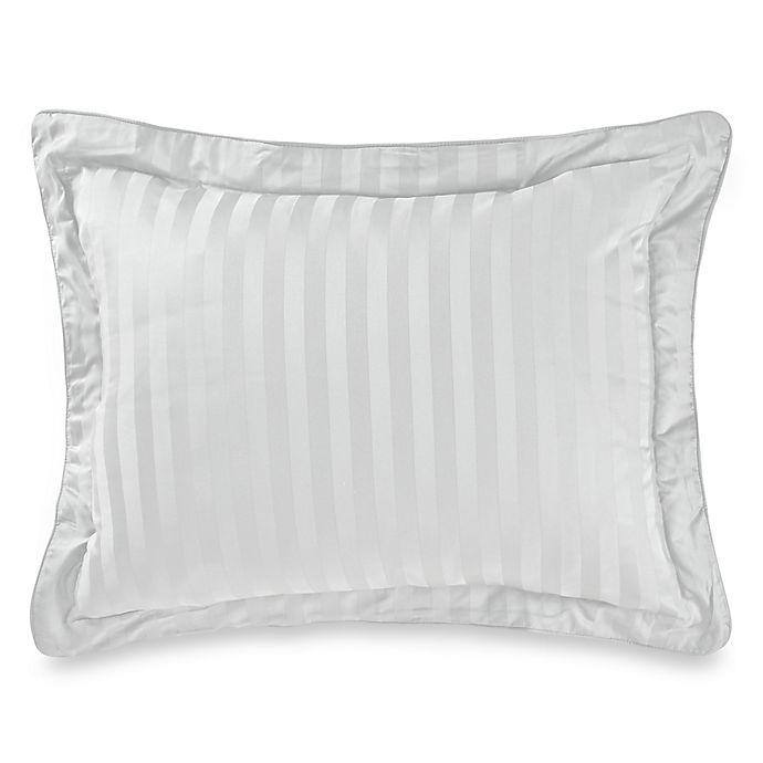 Alternate image 1 for Wamsutta® 500-Thread-Count PimaCott® Damask Standard Pillow Sham in Silver