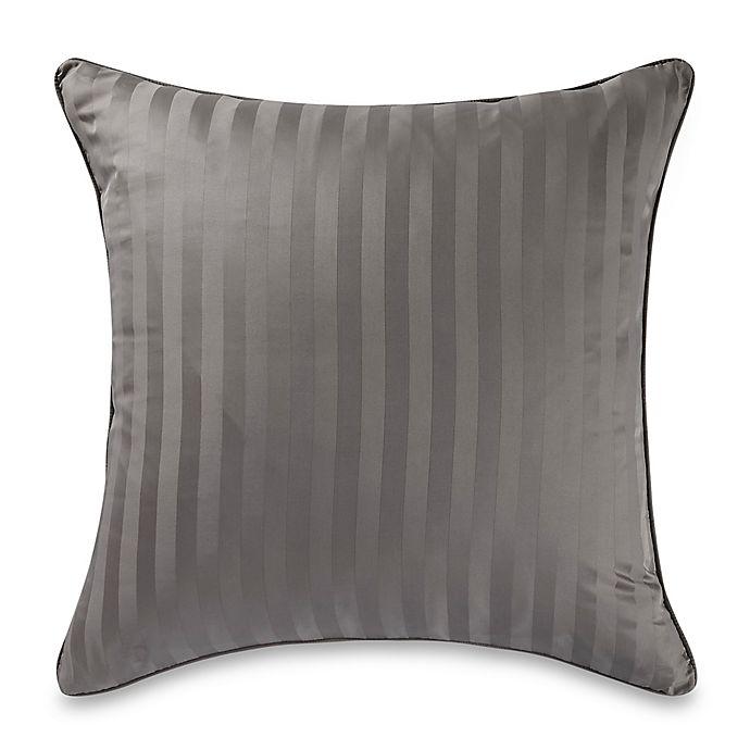 Alternate image 1 for Wamsutta® 500-Thread-Count PimaCott® Damask European Pillow Sham in Grey