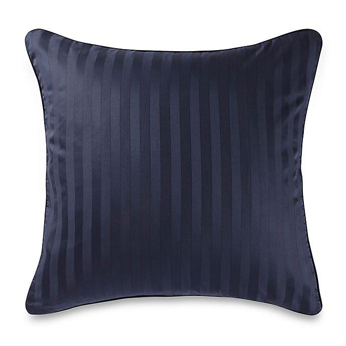 Alternate image 1 for Wamsutta® 500-Thread-Count PimaCott® Damask European Pillow Sham in Navy