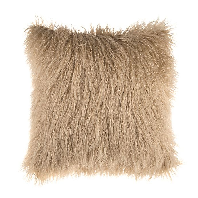 Alternate image 1 for Mongolian Faux Fur Square Throw Pillow