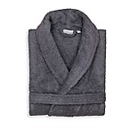 Linum Home Textiles Small/Medium Turkish Cotton Terry Unisex Bathrobe in Grey