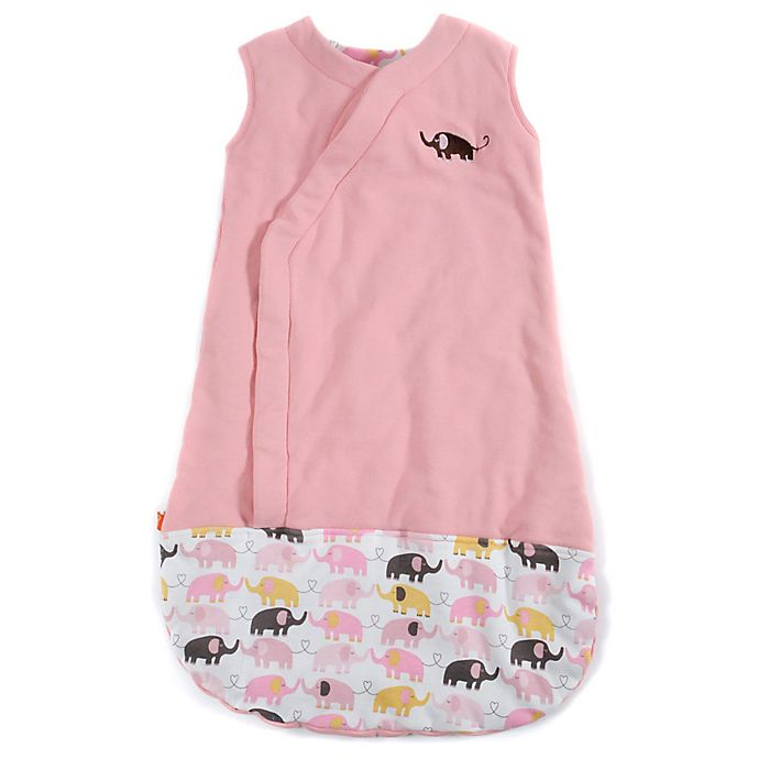 Alternate image 1 for Magnetic Me by Magnificent Baby® Size 6-12M Elephants Magnetic Wearable Blanket in Pink