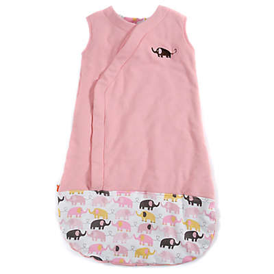 Magnetic Me by Magnificent Baby® Size 6-12M Elephants Magnetic Wearable Blanket in Pink