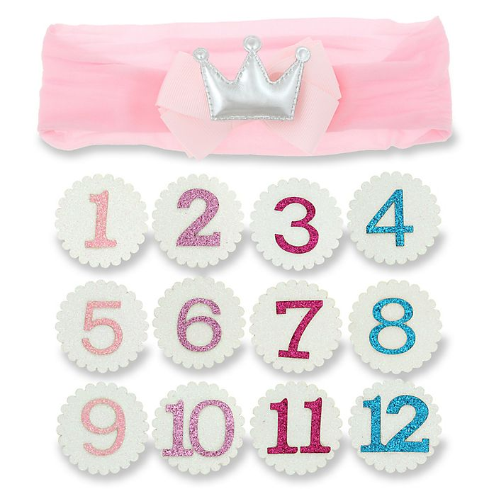 Alternate image 1 for Capelli New York 13-Piece Infant Interchangeable Birthday Girl Crown Set