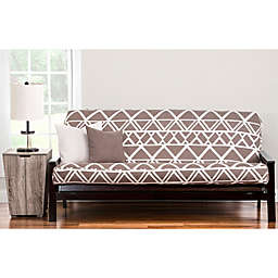 PoloGear Geo Tribe Futon Slipcover in Brown