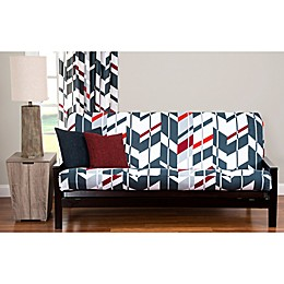 PoloGear Valor Futon Slipcover in Grey/Red