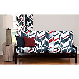 PoloGear Valor Twin Futon Slipcover in Grey/Red