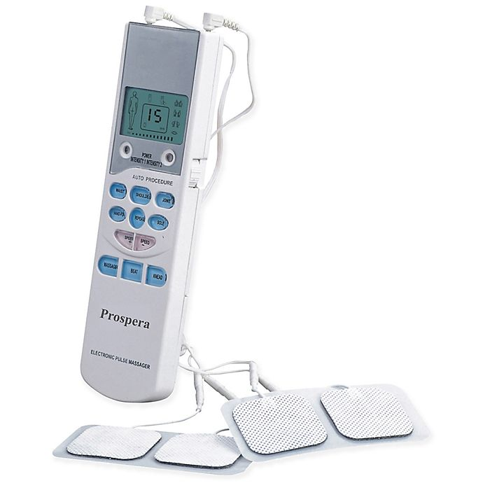 Alternate image 1 for Prospera TENS Electronic Pulse Massager in White