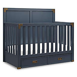 Bertini® Wyatt 4-in-1 Convertible Crib in Graphite Blue