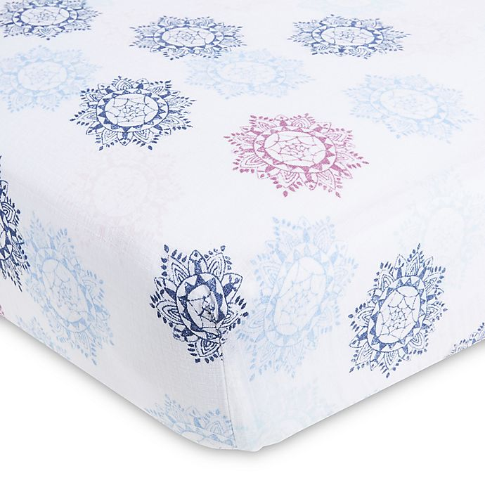 Alternate image 1 for aden® by aden + anais® Cotton Muslin Crib Sheet
