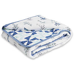 aden + anais™ essentials Dapper Cotton Muslin Blanket in Sky High