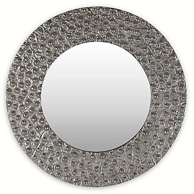 Arthouse Tondo 25-Inch Square Silver Wall Mirror