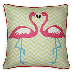 Imagine Fun Girls Life Flamingo Square Throw Pillow