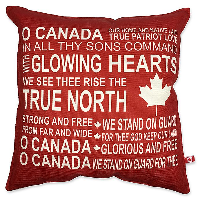 Alternate image 1 for Oh Canada 18-Inch Square Throw Pillow