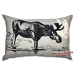 Canadian Moose 24-Inch x 16-Inch Oblong Throw Pillow