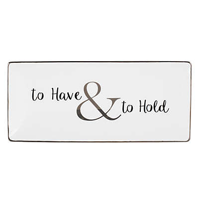 "Olivia & Oliver ""To Have & to Hold"" Trinket Tray in Platinum"