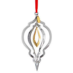 Nambe 2017 Annual Christmas Ornament in Silver/Gold