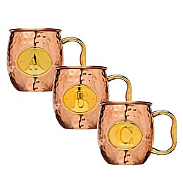 Block Letter Monogram Moscow Mule Mug in Copper