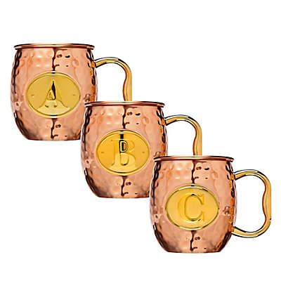 Block Letter Monogram Moscow Mule Mug in Copper