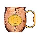 Monogram Letter  C  Moscow Mule Mug in Copper