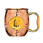 Monogram Letter  G  Moscow Mule Mug in Copper