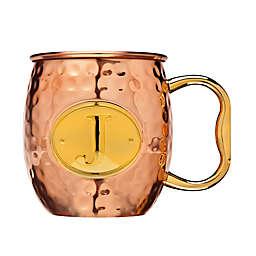 "Monogram Letter ""J"" Moscow Mule Mug in Copper"