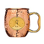 Monogram Letter  K  Moscow Mule Mug in Copper