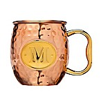 Monogram Letter  M  Moscow Mule Mug in Copper
