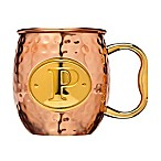Monogram Letter  P  Moscow Mule Mug in Copper