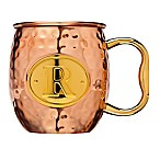 Monogram Letter  R  Moscow Mule Mug in Copper