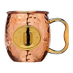 "Monogram Letter ""U"" Moscow Mule Mug in Copper"