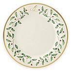 Lenox® Holiday™ Monogram Letter  A  Dinner Plate