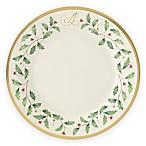 Lenox® Holiday™ Monogram Letter  A  Salad Plate