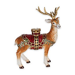 Fitz and Floyd® Renaissance Holiday Standing Deer Candle Holder