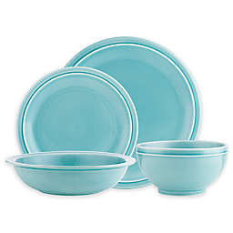 Godinger Chaddsford 16-Piece Dinnerware Set in Aqua