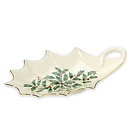 Lenox® Holiday™ Archive Holly Leaf Dish