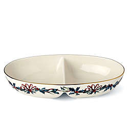 Lenox® Winter Greetings® Divided Oval Bowl