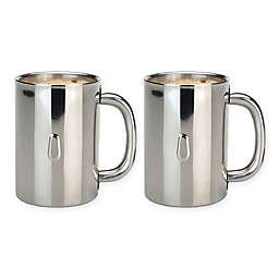 BergHOFF® Straight Line Stainless Steel Coffee Mugs (Set of 2)